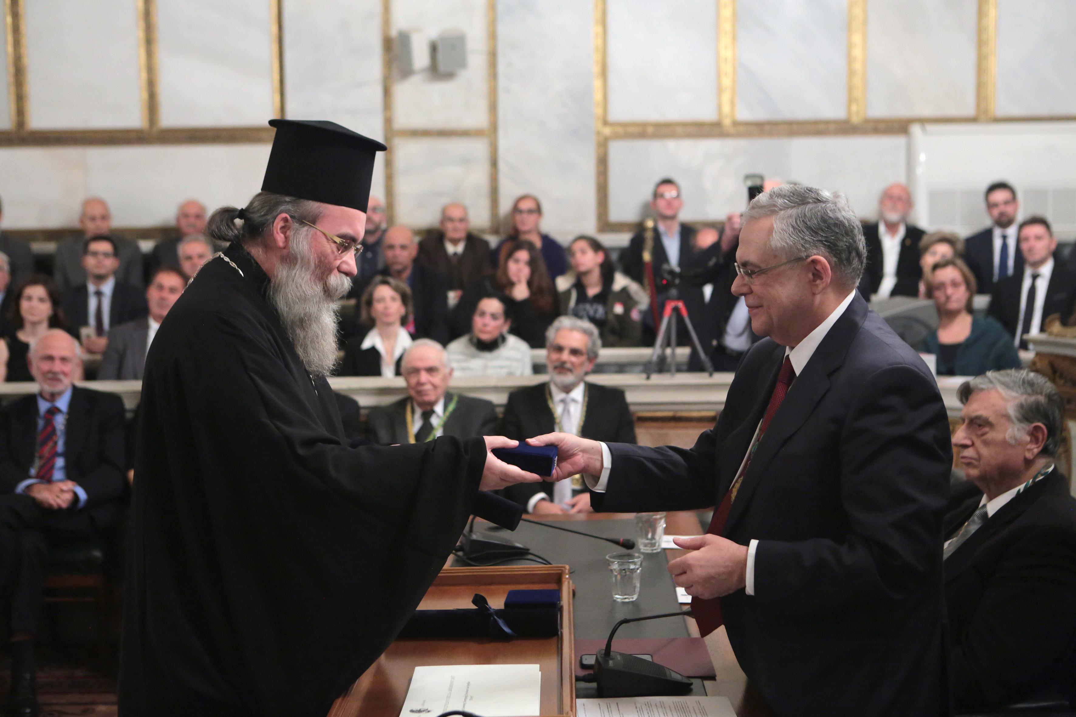 Η Ακαδημία Αθηνών βράβευσε την Ακαδημία Κρήτης